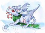 Dragon whelp on ice