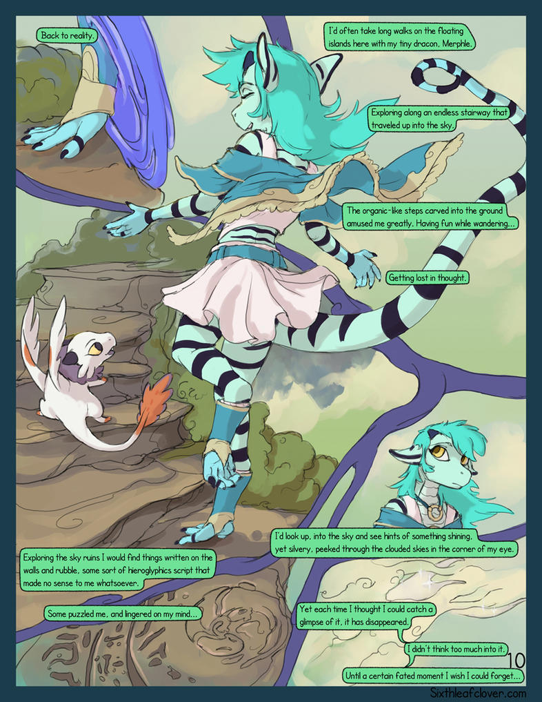 Asteria Six: Page 10. Blue Noise. by The-SixthLeafClover