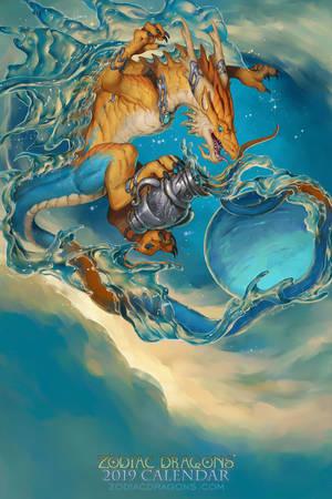 2019 Zodiac Dragon Aquarius by The-SixthLeafClover
