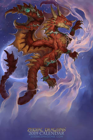 2019 Zodiac Dragon Cancer by The-SixthLeafClover