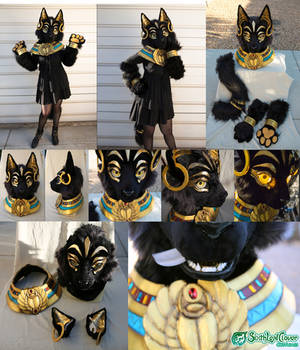 The Egyptian Bastet Cat Partial Fursuit by The-SixthLeafClover