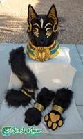 Egyptian Cat Fursuit Costume Partial