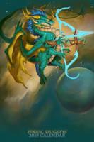 2019 Zodiac Dragon Sagittarius by The-SixthLeafClover