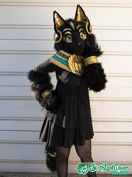 Bastet Partial Fursuit - Last two days by The-SixthLeafClover