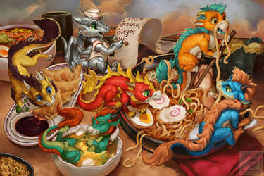 The Noodle Dragons Bowl by The-SixthLeafClover