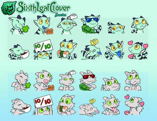 Lizard and Dragon Whelp Emotes by The-SixthLeafClover