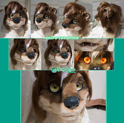 Chipo Fursuit Costume Head Commission by The-SixthLeafClover