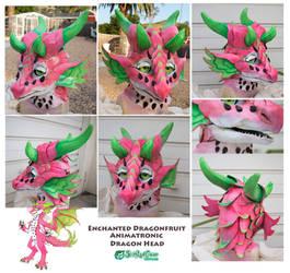 Dragonfruit Prototype Animatronic Costume Head - U by The-SixthLeafClover