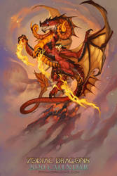 2020 Zodiac Dragons Calendar Aries by The-SixthLeafClover