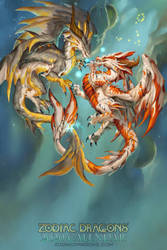 2020 Zodiac Dragons Pisces by The-SixthLeafClover