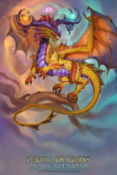 2020 Zodiac Dragons Calendar Libra by The-SixthLeafClover