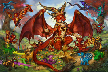 The Life Binder - Restoring the dragon flight by The-SixthLeafClover