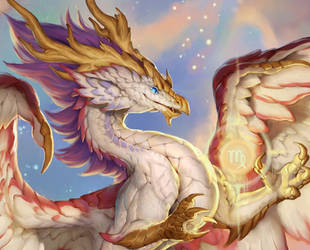 2020 Zodiac Dragons Calendar Virgo Close Up by The-SixthLeafClover