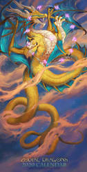 2020 Zodiac Dragons Calendar - Ophiuchus by The-SixthLeafClover