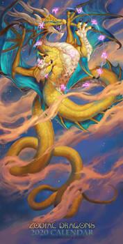 2020 Zodiac Dragons Calendar - Ophiuchus
