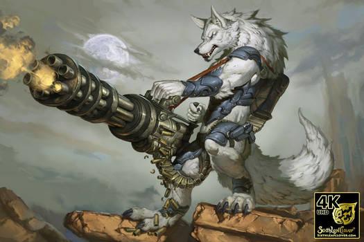Thunder Werewolf - 4K UHD Digital Art Files