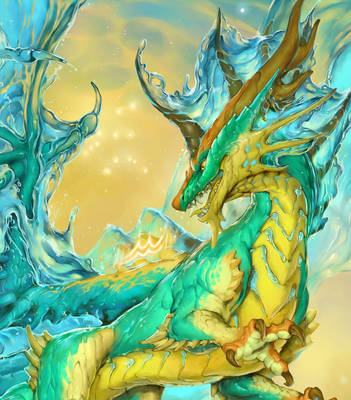2020 Zodiac Dragons Aquarius Detail