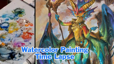 Prism Dragon Time Lapse Painting Video