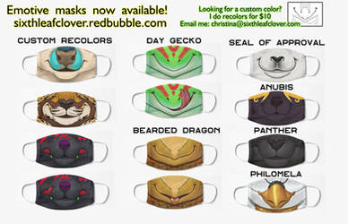 Mask Catalog 3 - Redbubble