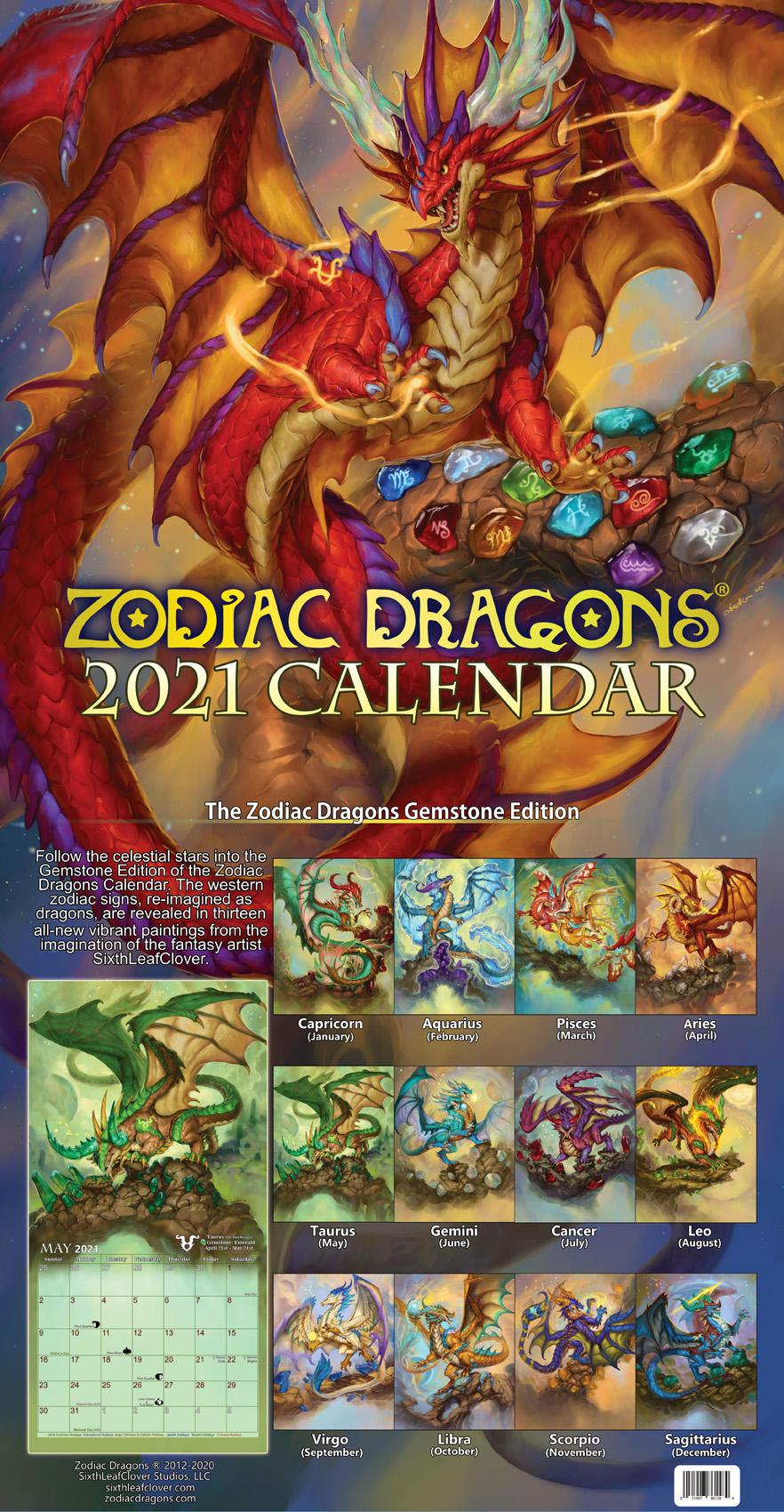 Dragon Calendar 2021 2021 Zodiac Dragons Calendar by The SixthLeafClover on DeviantArt