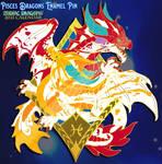 2021 Pisces Dragons Enamel Pin Design