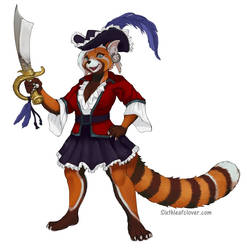 Pirate Red Panda Avery Concept