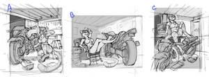 Motorbike Garage Cheetah - 1 sm