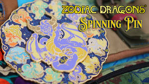 Zodiac Dragons Spinning Enamel Pin