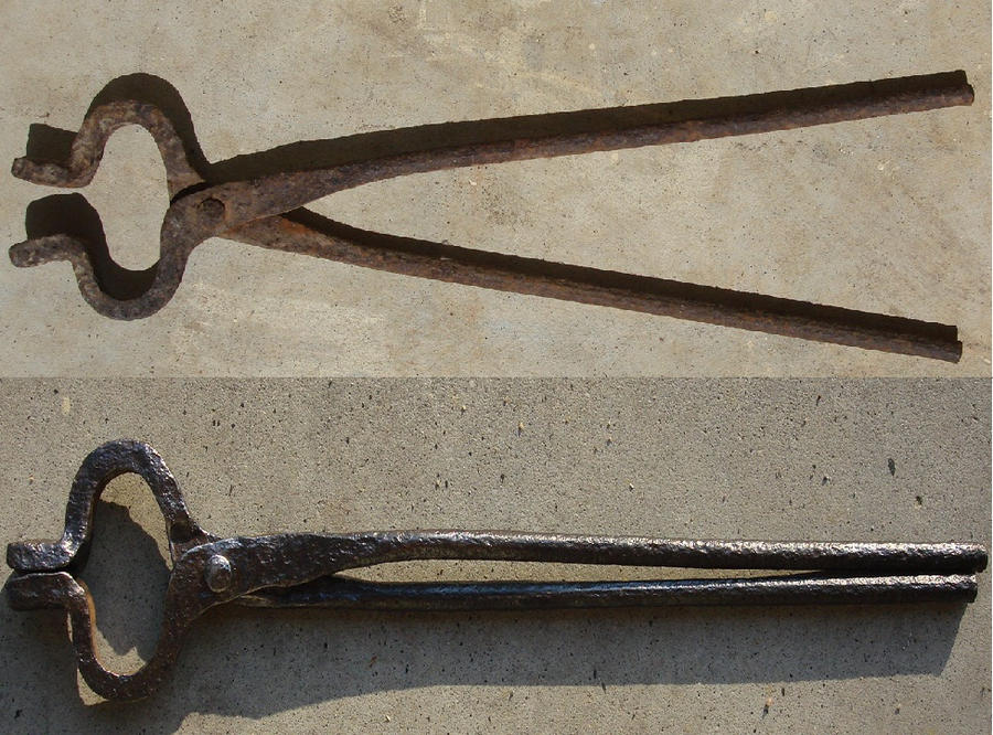 Antique Blacksmith Tongs