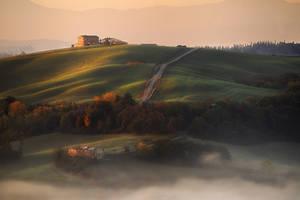 Mist and sunshine by JPawlak