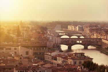 Picturesque view of Florence from Michelangelo Squ