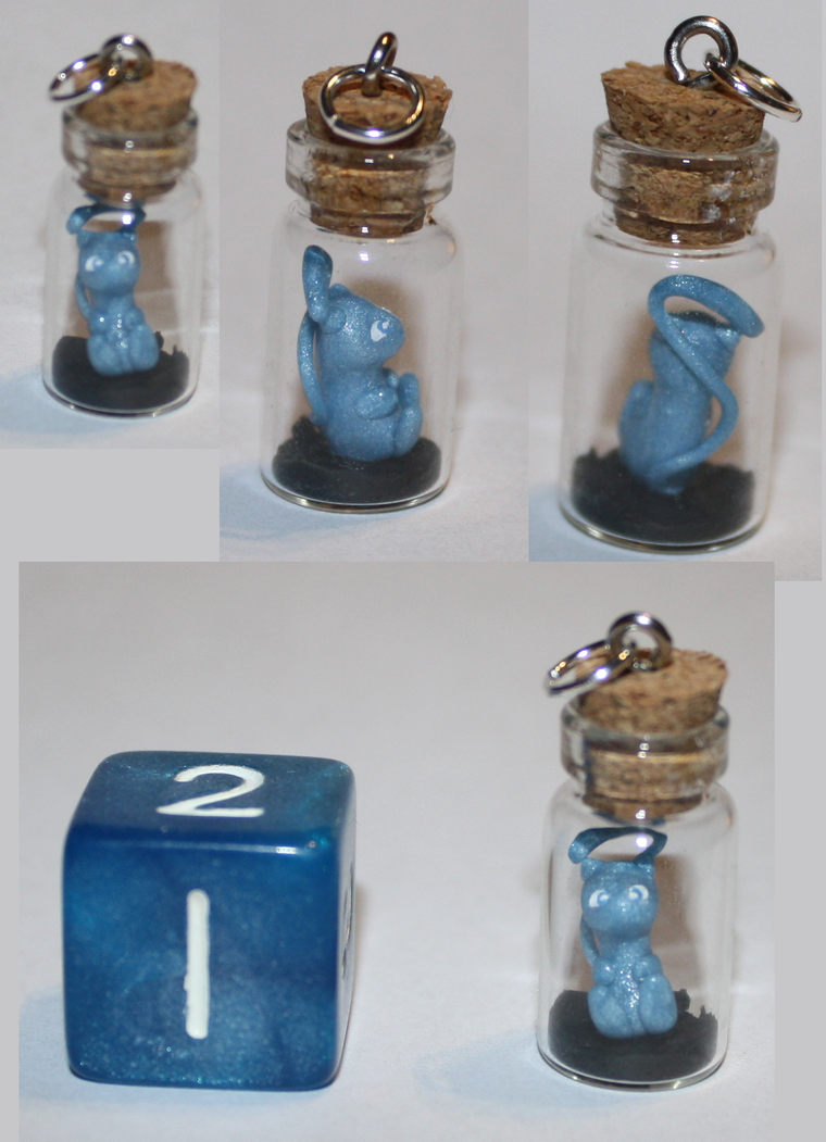Mini Mew Bottle Charm by missinsaneperson