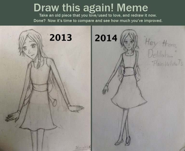 Draw this again meme delilah by stormx6 on deviantart for Draw this again meme template