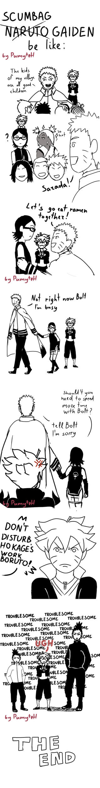 Naruto gaiden be like by PumyteH