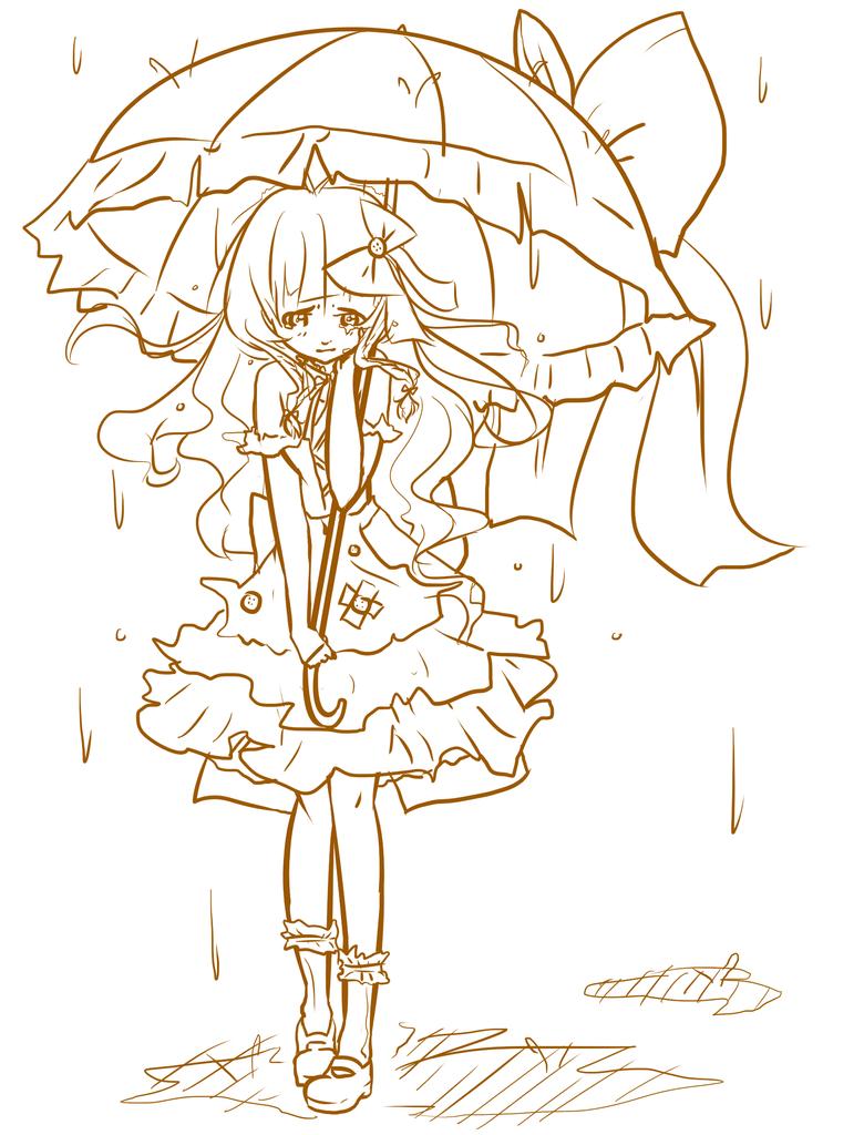 Rain And Umbrella WIP by softspook on DeviantArt