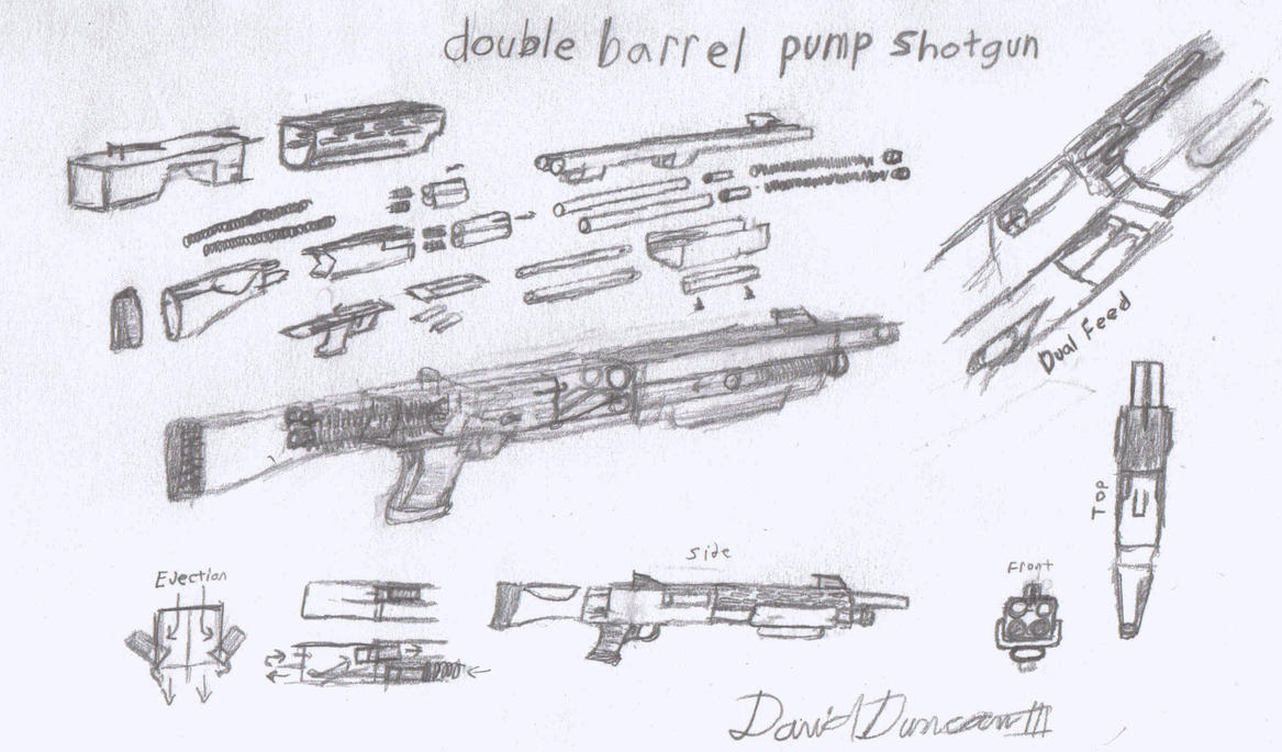 d b p  shotgun design by kingcavechimp on deviantart