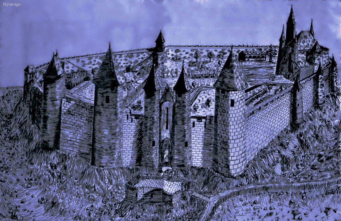 Dessin d 39 un chateau fort by hyneige on deviantart - Dessin d un chateau ...