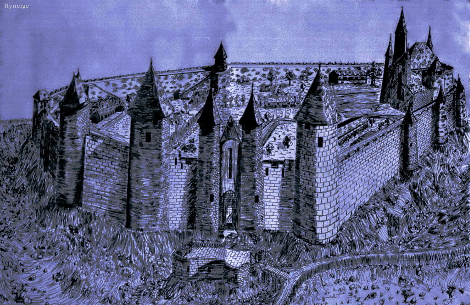 Dessin d 39 un chateau fort by hyneige on deviantart - Dessin d un chateau fort ...