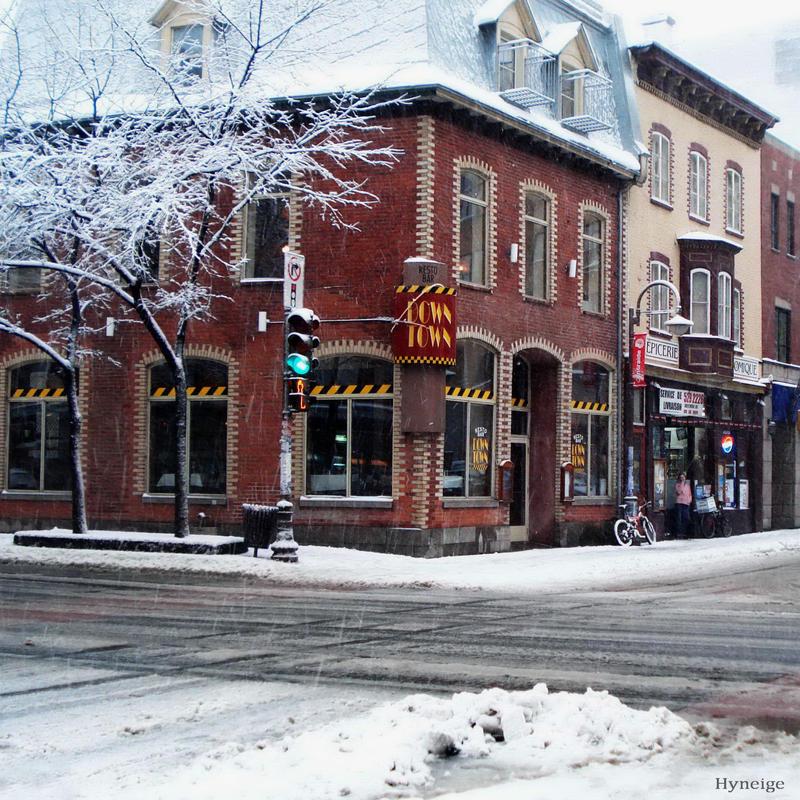 Quebec Neige sur la Ville by hyneige
