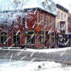 Quebec rue sous la neige I by hyneige