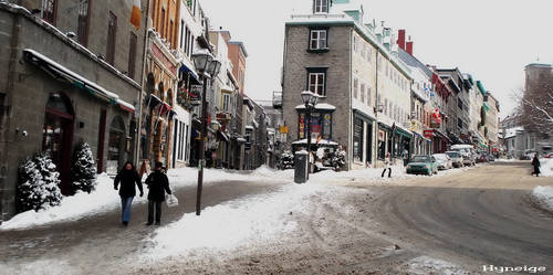 Quebec et ses rues en Hiver by hyneige