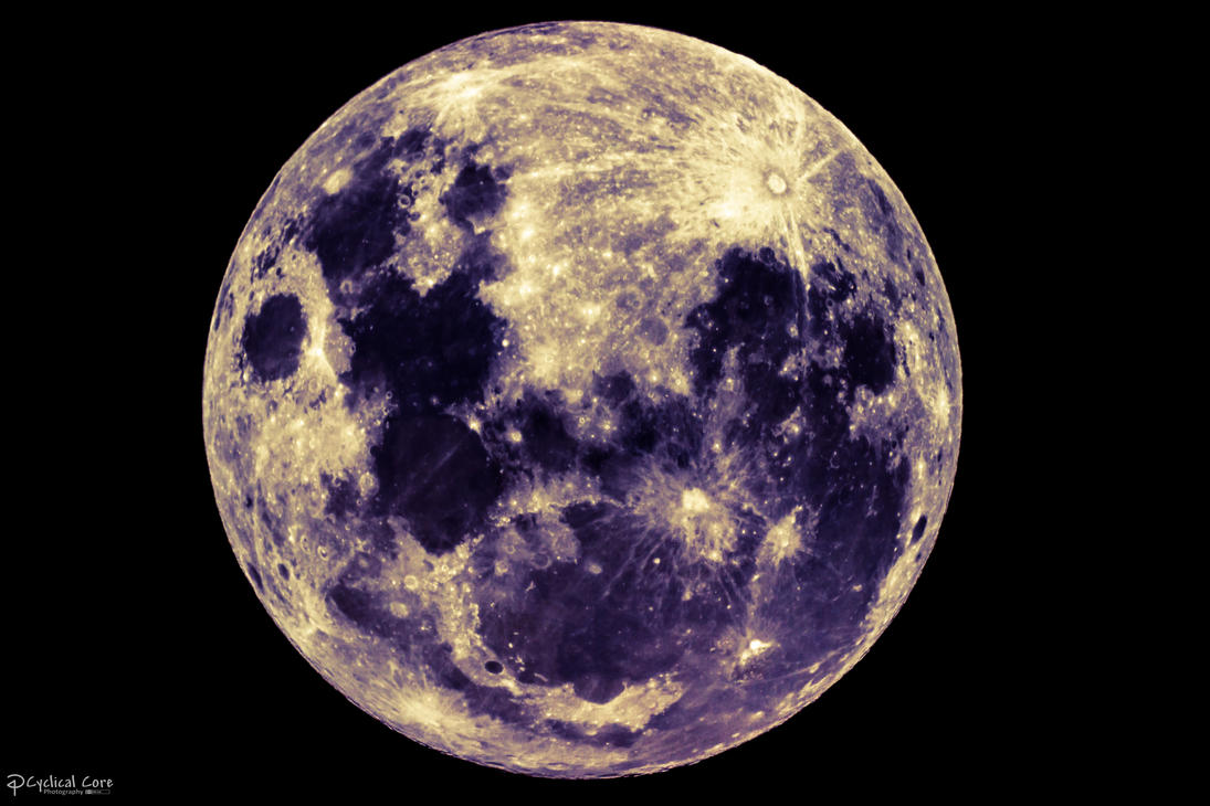Full Moon Color By CyclicalCore On DeviantArt