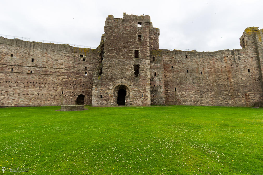 Tantallon Castle - Inner face of curtain wall by ...