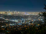 Los Angeles skyline by CyclicalCore