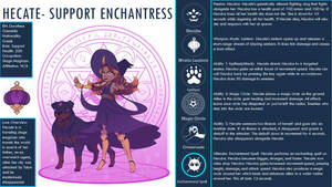 Hecate- Support Enchanter (Overwatch OC) by CeceSweets