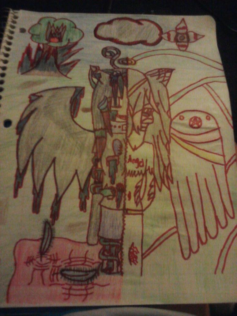 The God Angel and The Eivl Angel by DedeTheShadowAngel