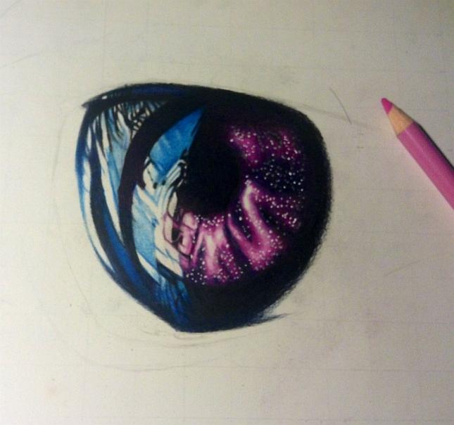 Eye Drawing - Work in Progress by DeadOceans
