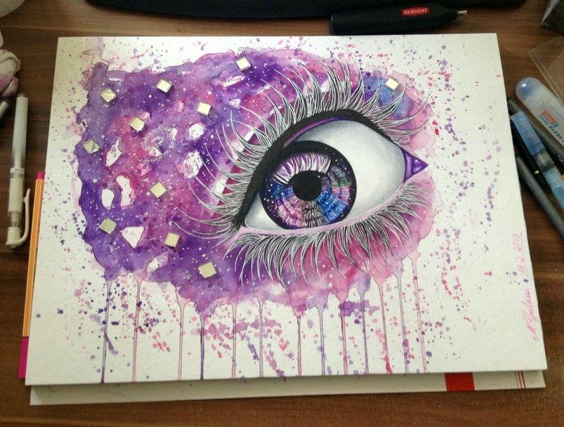 Purple Mirror Eye - Selling the original! by DeadOceans