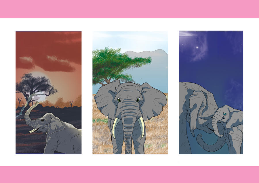 Elephants by dayjohnson