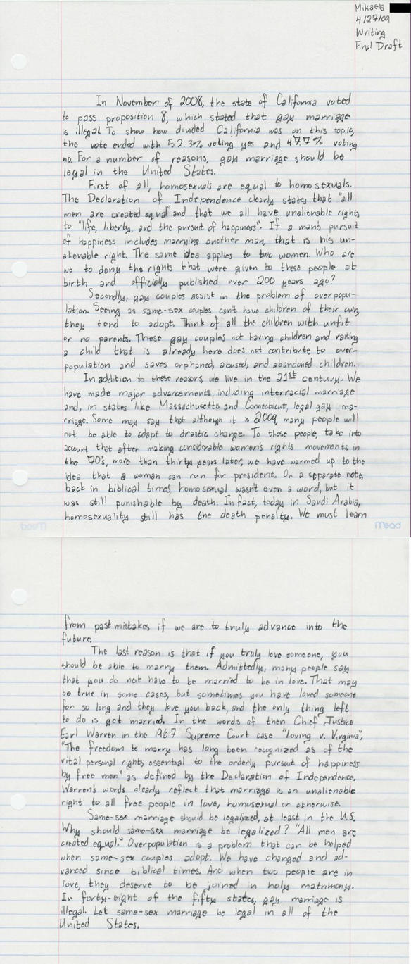 same sex marriage argumentative essay editorial further damage of  persuasive essay gay marriage by mickyway jpg persuasive essay gay marriage gay marriage arguentative persuasive